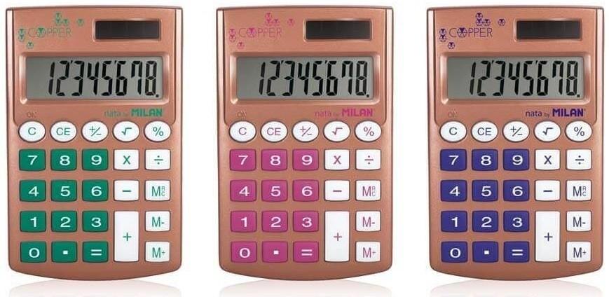 Milan kalkulačka Mini Copper 8 dig. Solar