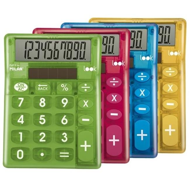 Kalkulačka Milan 10 dig. Dual - červená