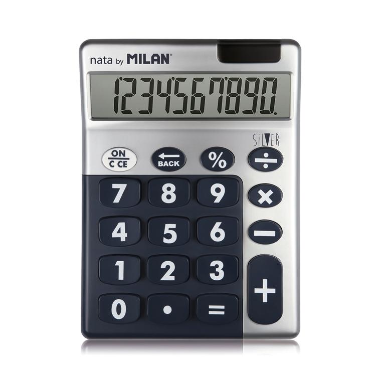 Kalkulačka Milan Silver 10 digit.displej - náhodná