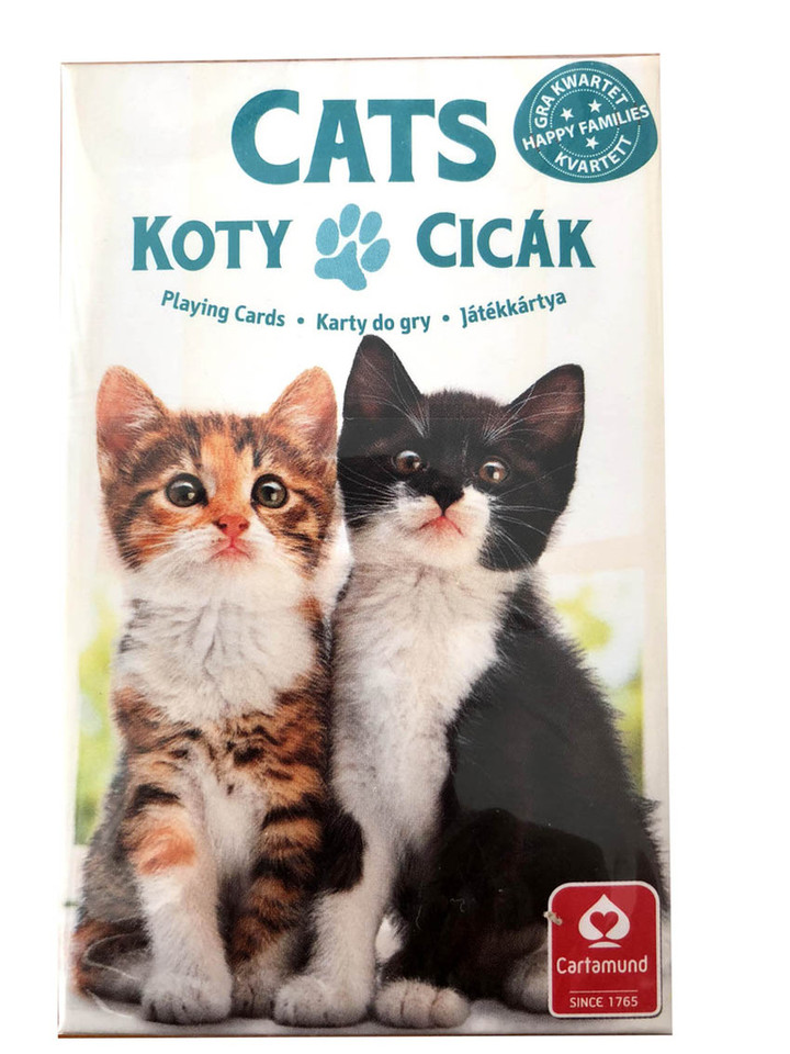Karty kvarteto Mačky 32ks