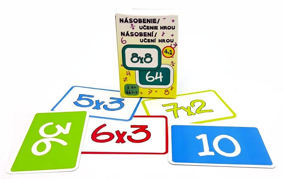 Karty násobenie, učíme sa hrou 55 kariet