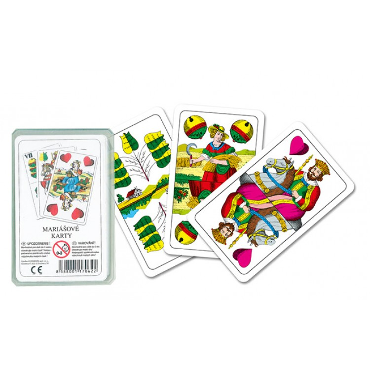 Mariašové karty v plastovom obale