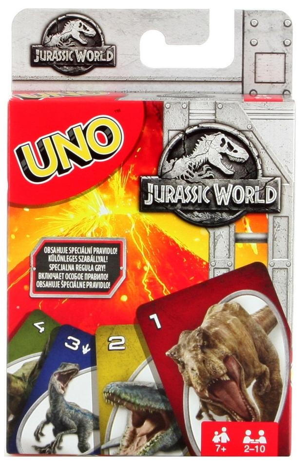 Mattel Karty Uno Jurský svet