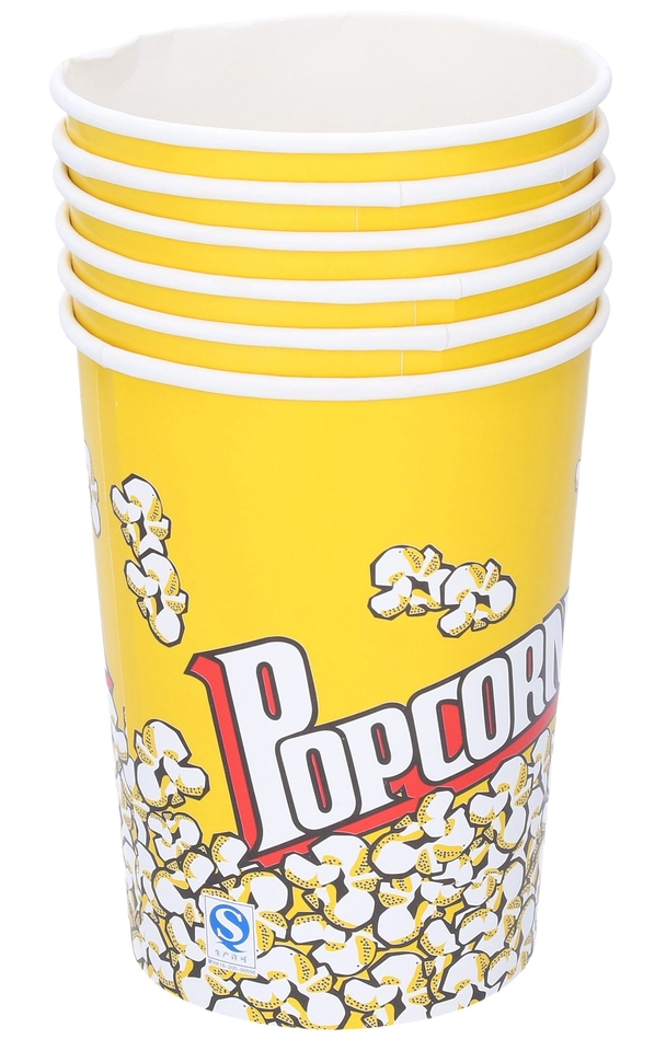 Kelímok na popcorn 1l 6ks
