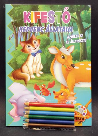 Kifestő+munkafüzet+ceruzák Állatok (Maďarská verzia)