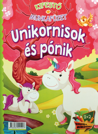 Kifestő+munkafüzet+ceruzák Unikornis (Maďarská verzia)