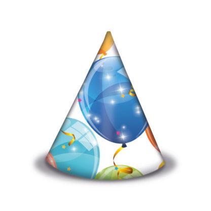 Klobúčiky Balóny 6ks