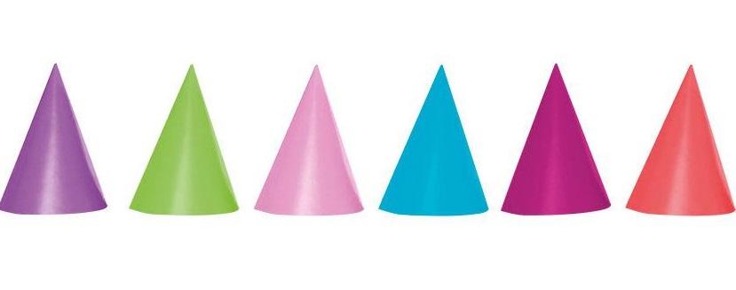 Klobúčiky Párty farebné 6ks