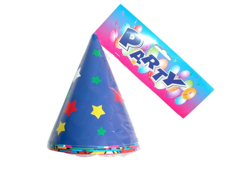 Klobúčiky Párty s hviezdami 6ks