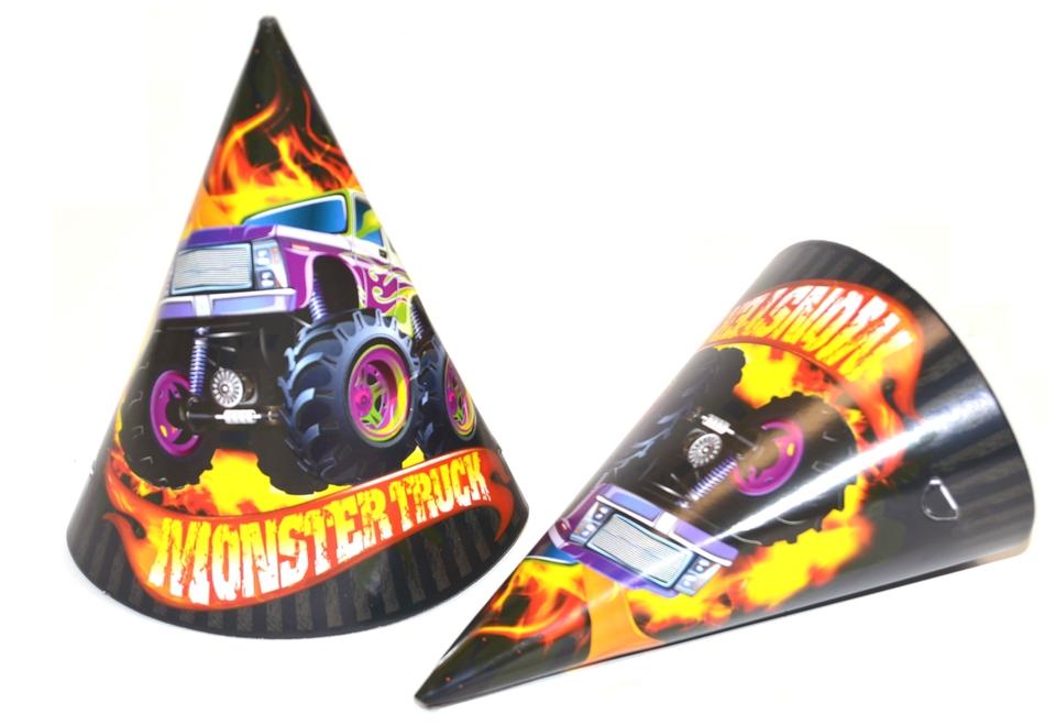 Klobúčiky Párty Monster Truck 6ks