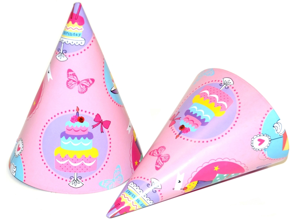 Klobúčiky Torta 6ks