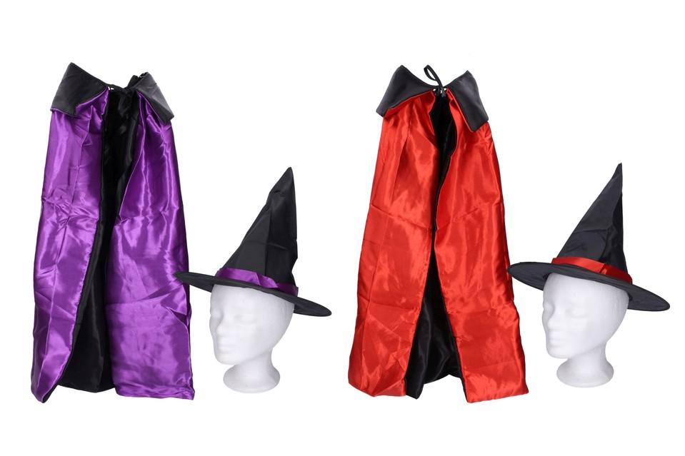 Klobúk a plášť karnevalový doplnok 75cm - náhodná