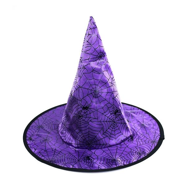Čarodejnícky klobúk fialový
