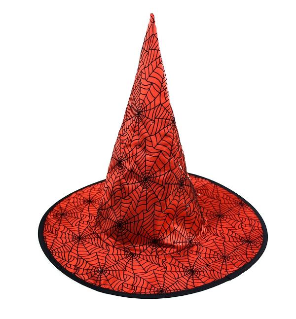 Čarodejnícky klobúk červený 41x37cm