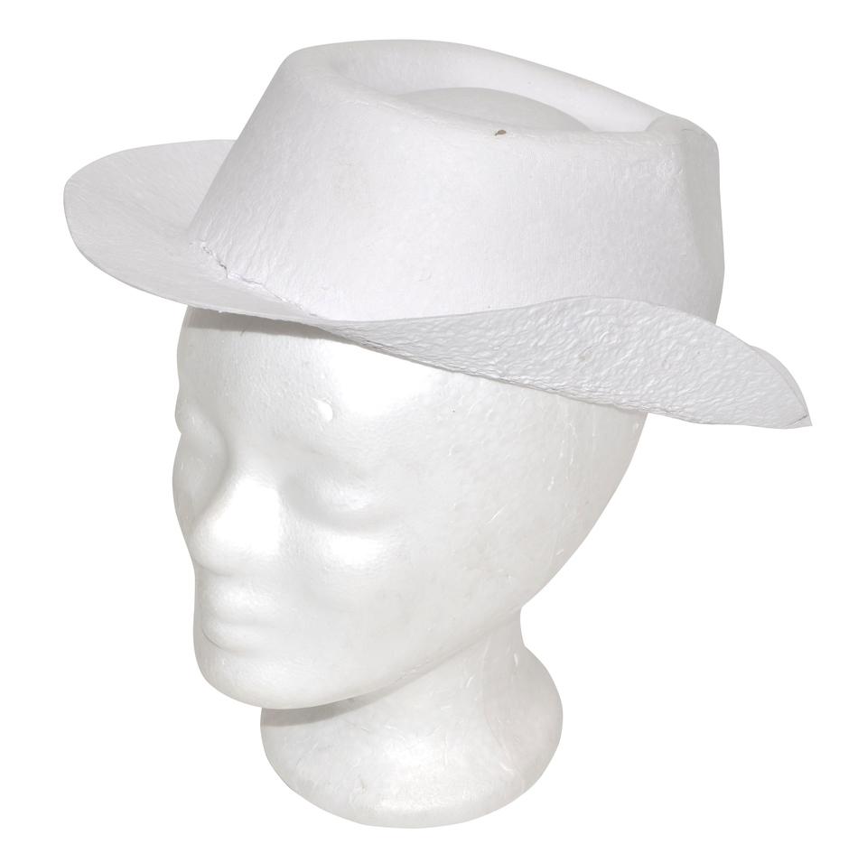 Papierový klobúk biely