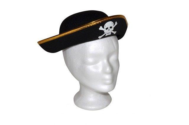 Pirátsky klobúk s motívom lebky