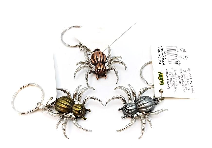 Kľúčenka pavúk kovová 3,5cm