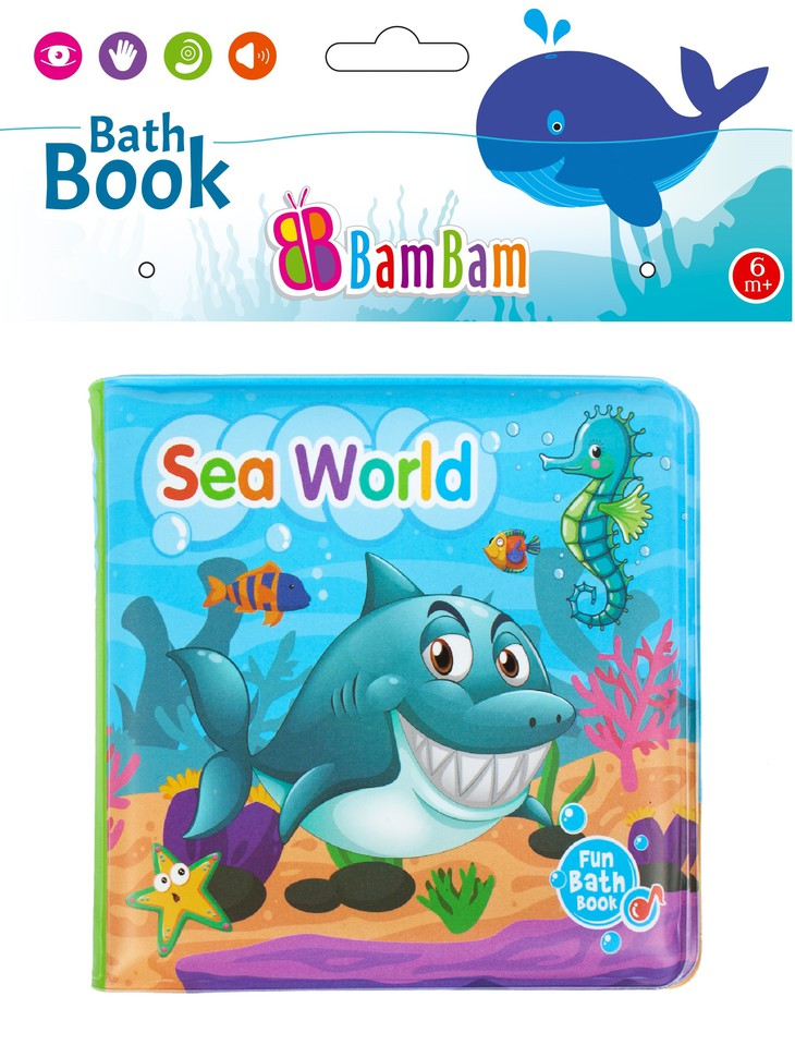 BamBam Mäkká knižka pískaciamorský svet 14x12cm