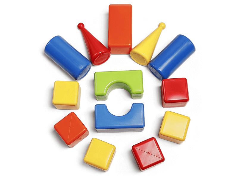Plastové kocky Maxi 13ks