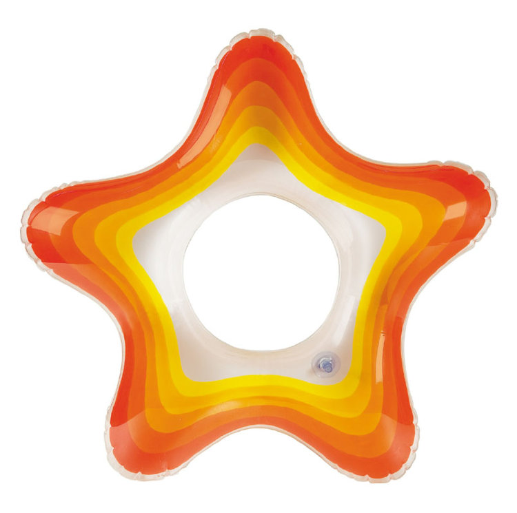 Intex 58235 Nafukovací kruh Starfish 74x71cm - modrá