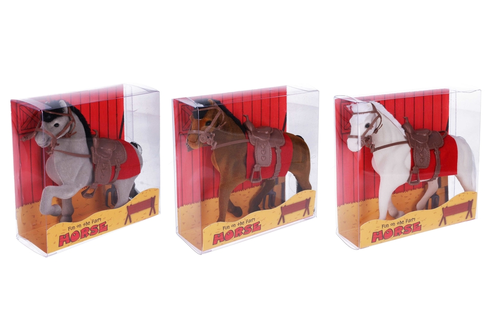 Kôň 16cm - tmavohnedá