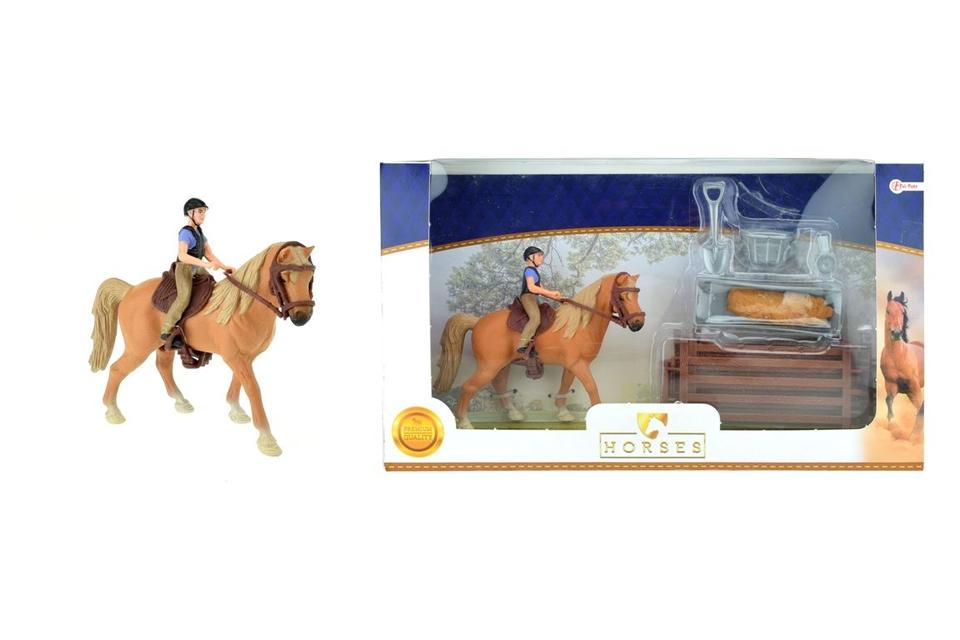 Kôň s jazdcom a doplnkami