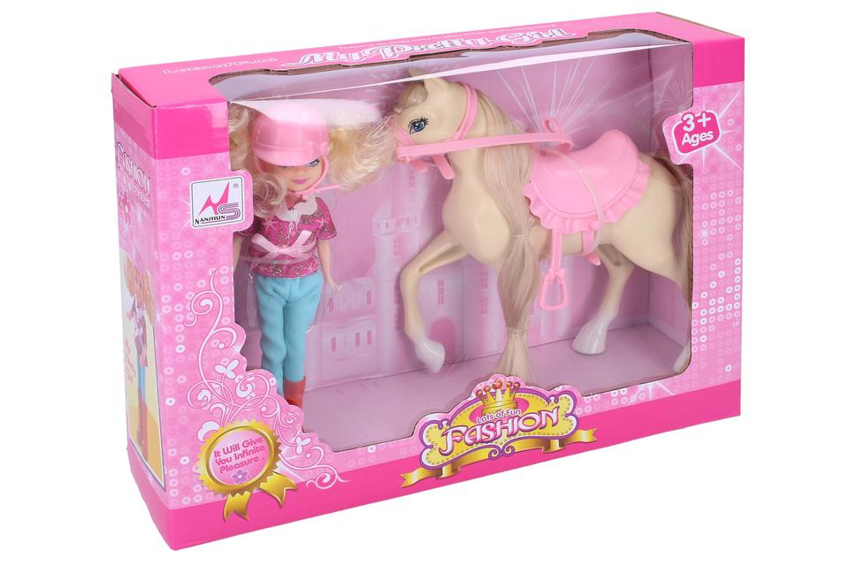Kôň s bábikou 16cm