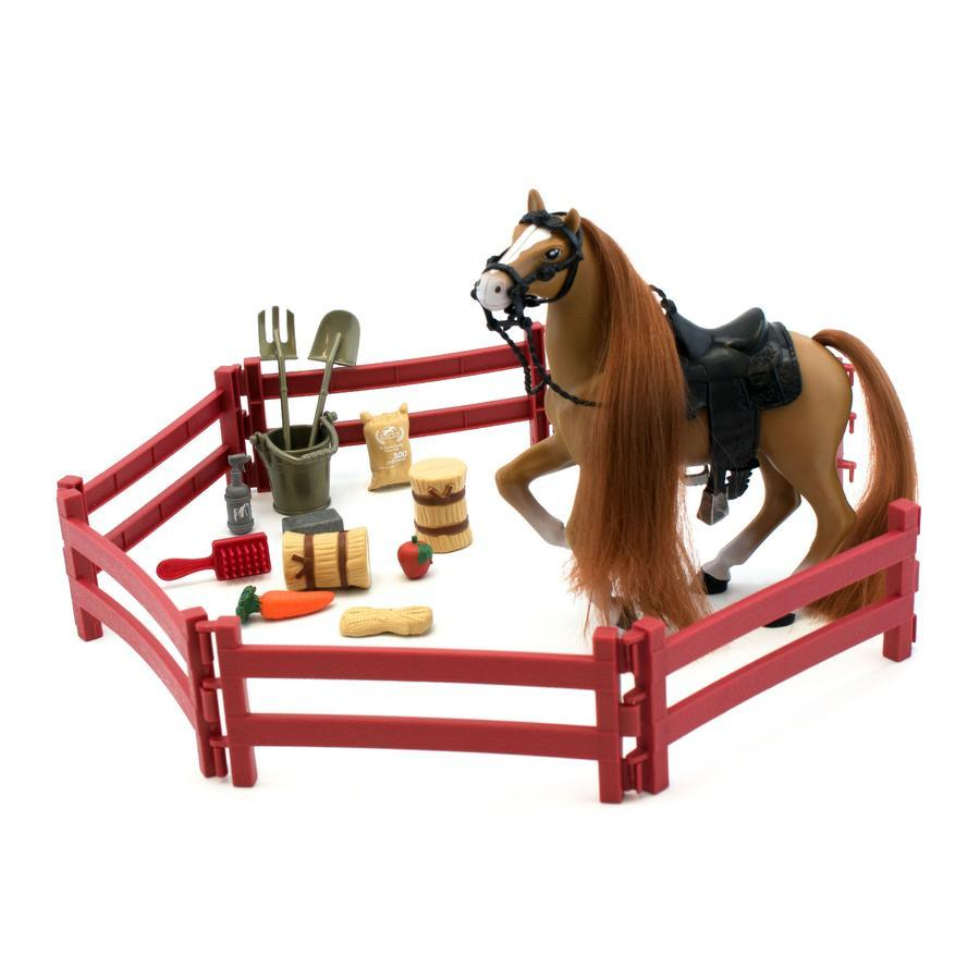 Kôň s doplnkami Royal Breeds 17 cm - biela