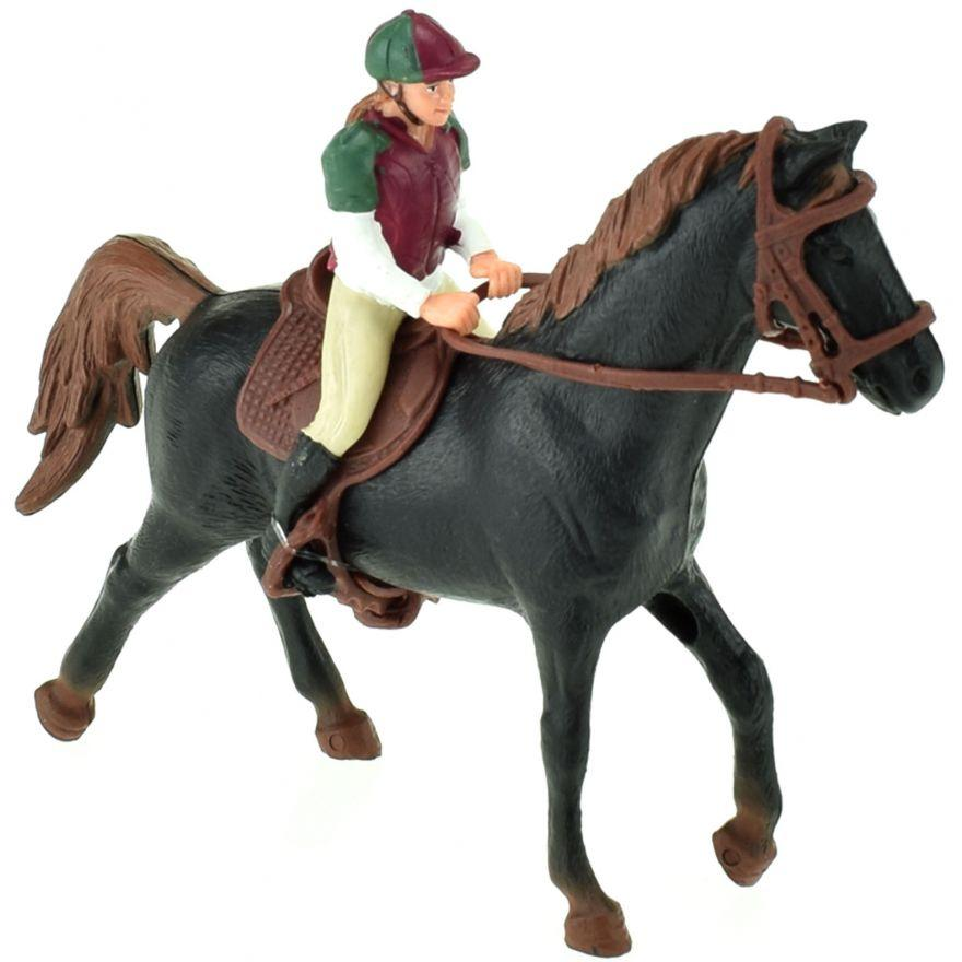 Kôň s džokejkou