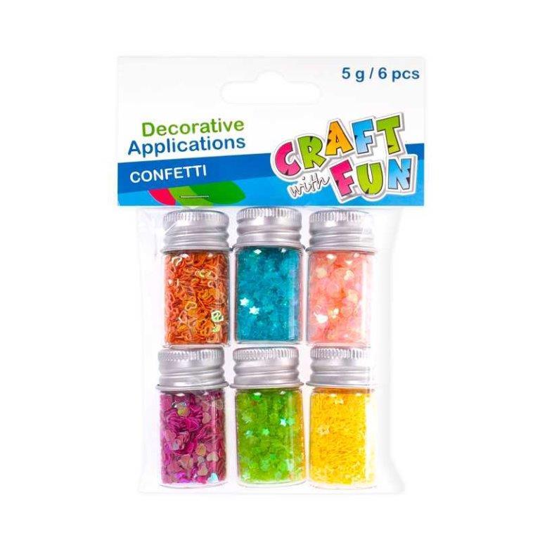 Farebné konfety mix 6ks, 5g