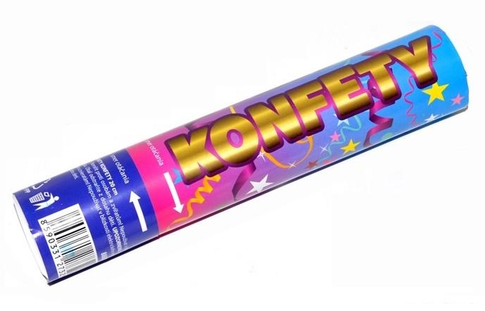 Vystreľovacie konfety 20cm