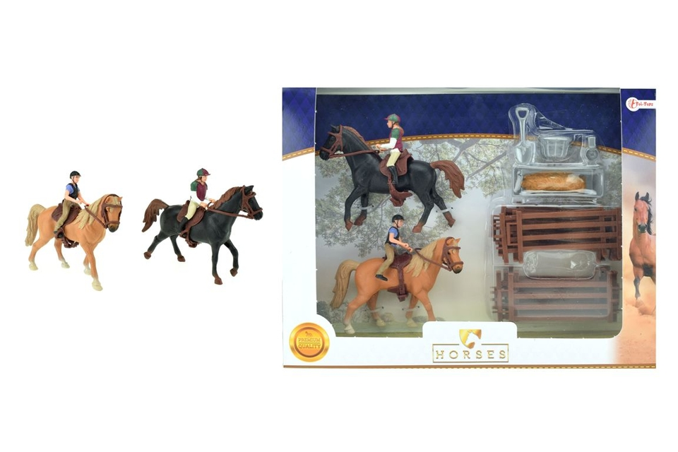 Kôň s džokejom 2x a doplnkami