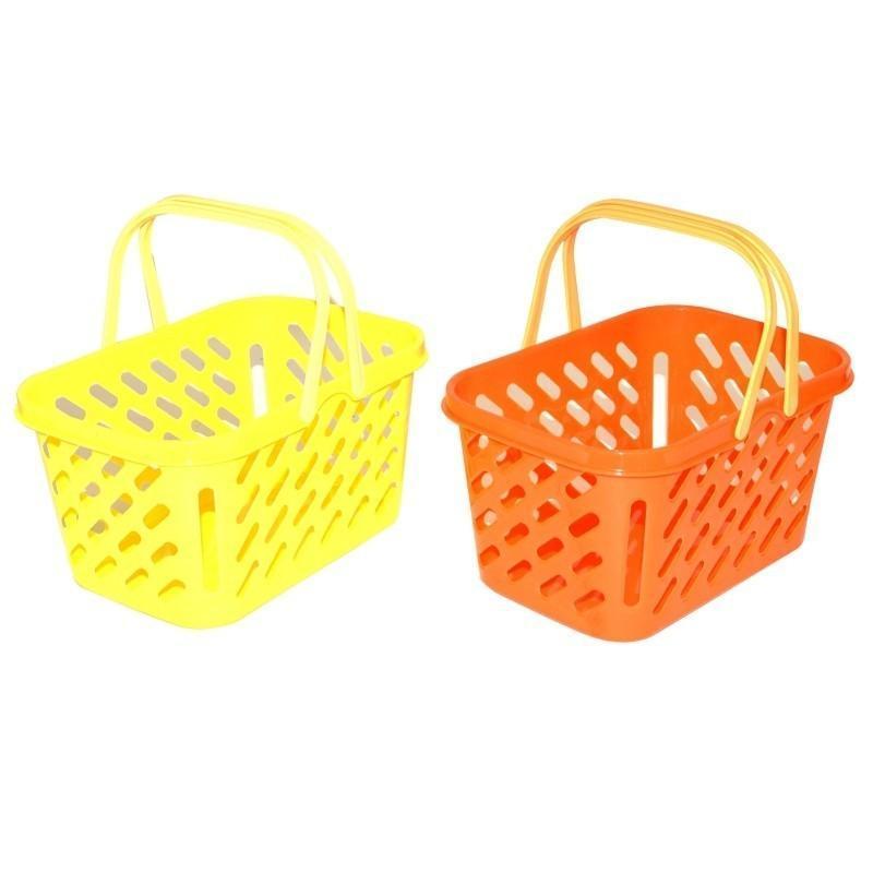 Košík nákupný 25x17x13cm - žltá