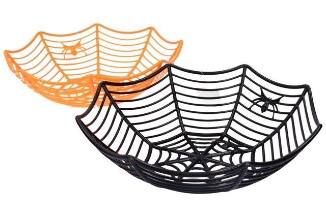 Košík pavučina - čierna