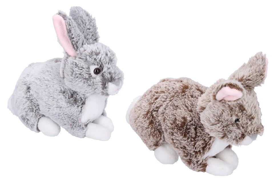 Zajac plyšový20 cm - sivá