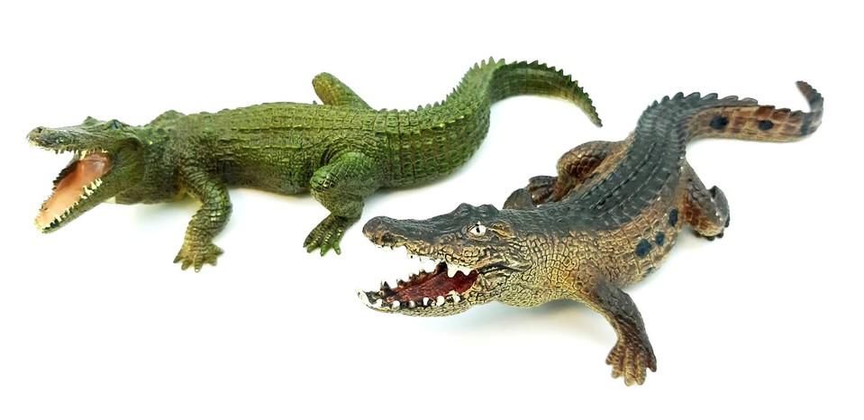 Krokodíl 21cm - hnedá