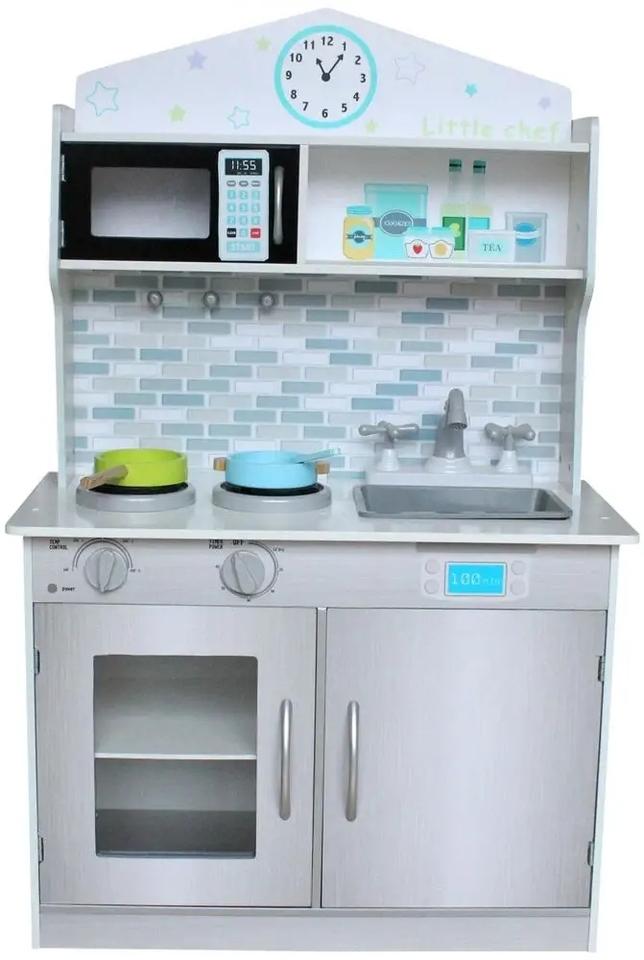 Kuchynka drevená biela 93x60x30cm