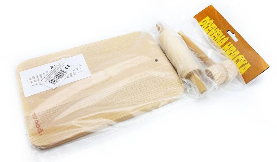 Kuchynské pomôcky z dreva 3ks