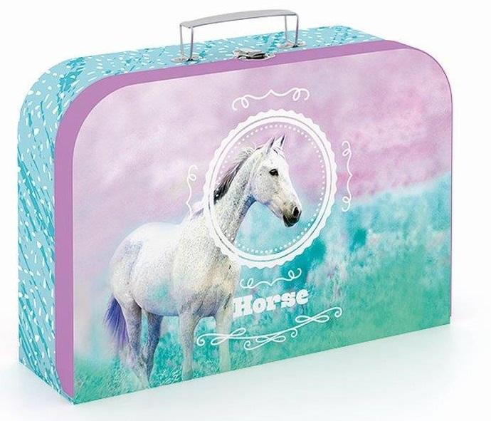 Kufrík biely kôň 34cm