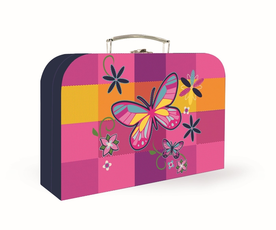 Kufrik Motýľ 34x23x10cm