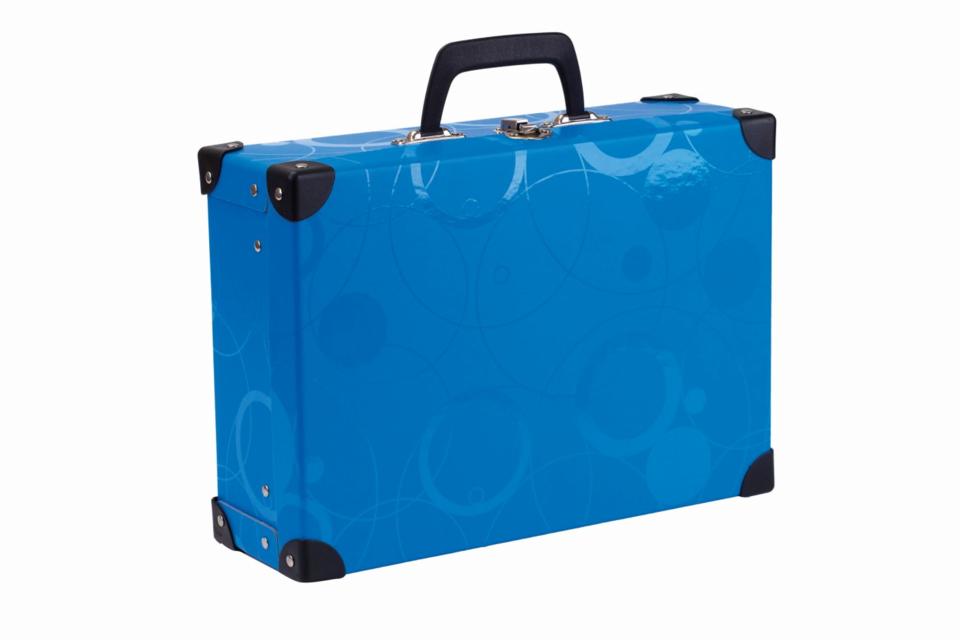 Kufrík MODRÝ 40x35x11 cm