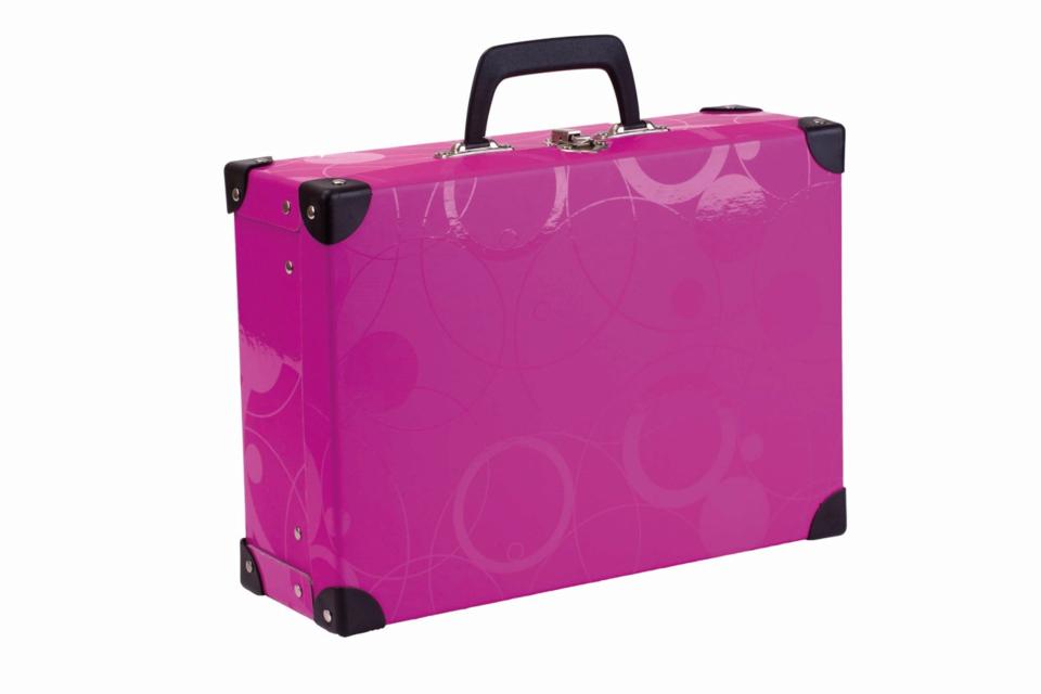 Kufrík ružový 40x35x11 cm