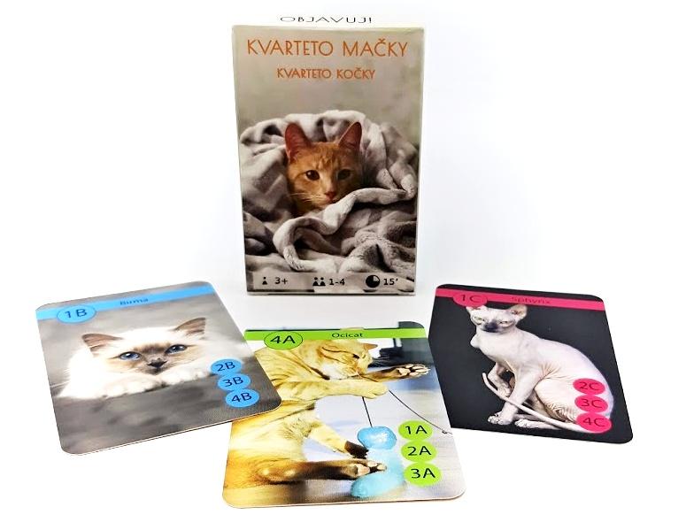 Karty Kvarteto mačky 32 kariet