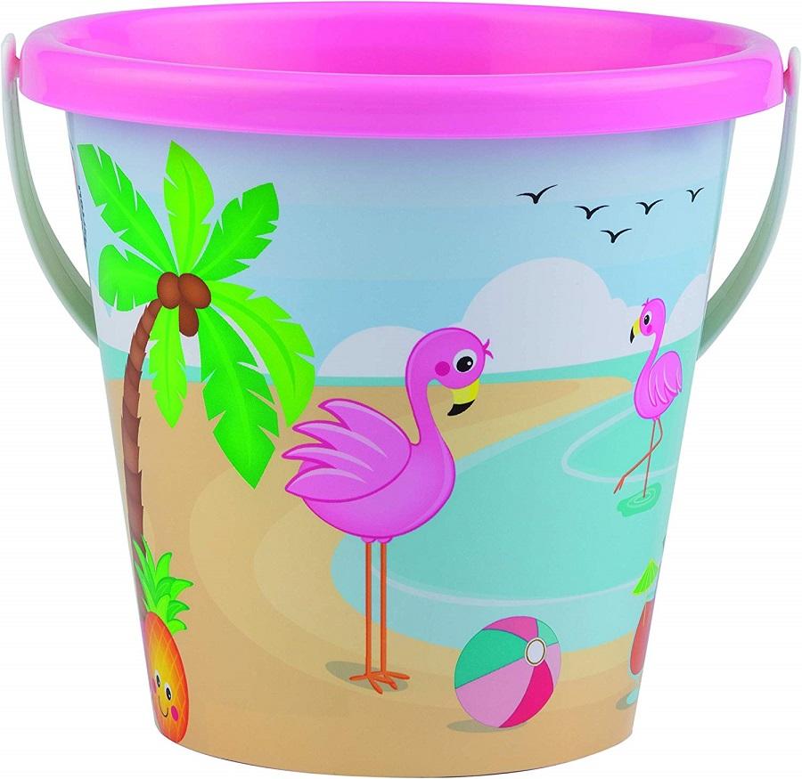 Ružový kýblik do piesku Plameniak