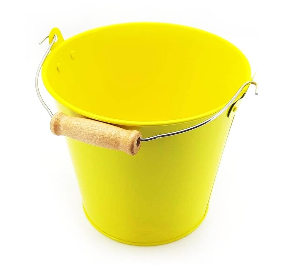 Veľký kýblik žltý 14cm