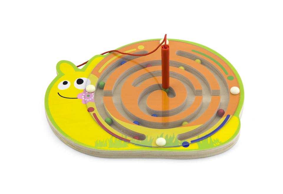 Viga Drevený labyrint magnetický-slimák