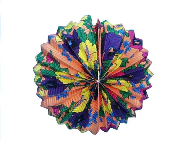 Lampion farebný 18cm