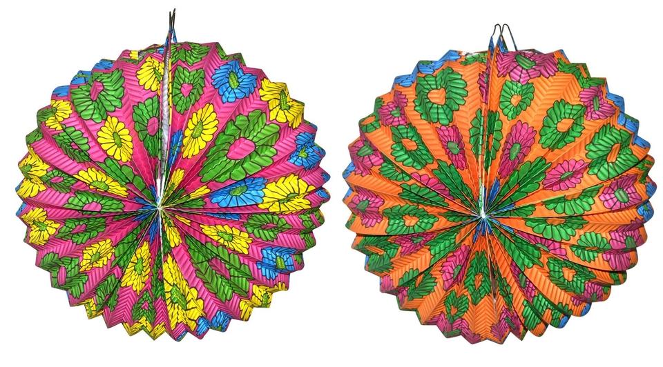 Lampion farebný 25cm