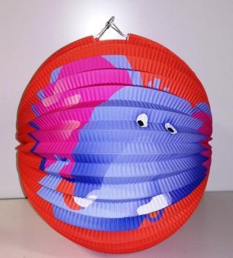 Lampion s rybou 25cm