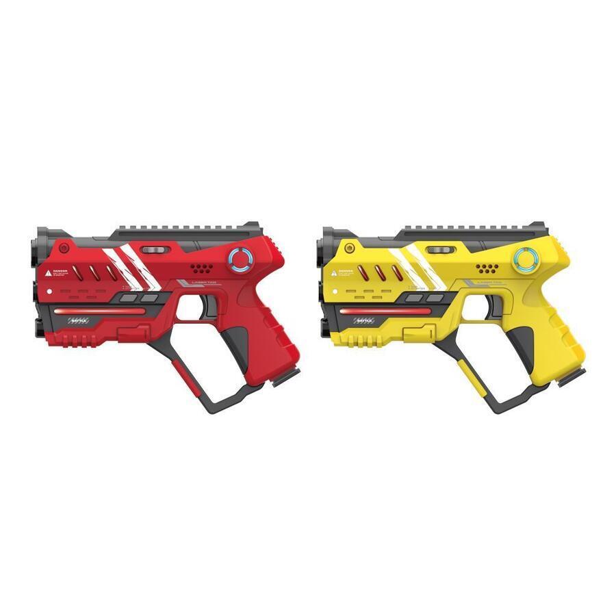 Laser hra pre dvoch 22cm - žltá a červená farba
